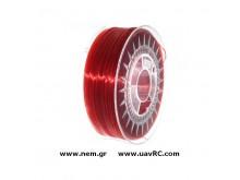 Filament PETG 1.75 mm, Ruby Red Transparent, Spool -1kg