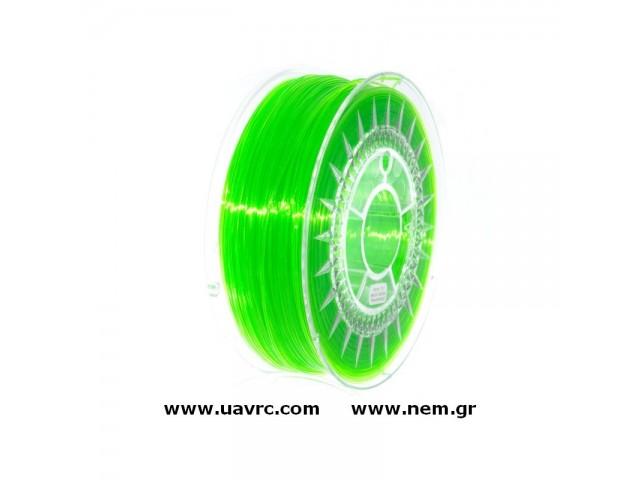 Filament PETG 1.75 mm, Green Transparent, Spool -1kg