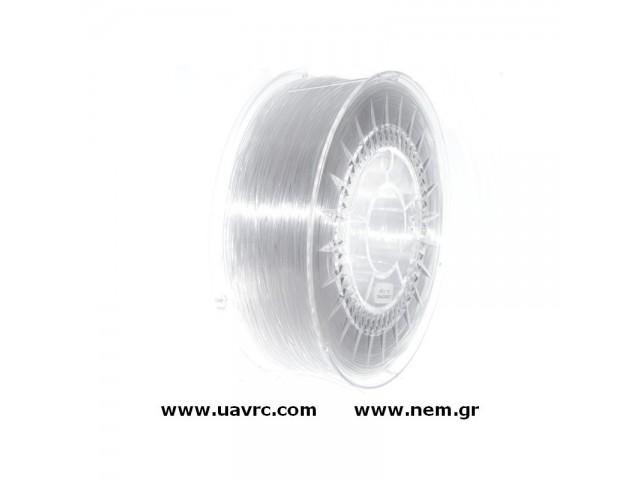 Filament PETG 1.75 mm, Transparent, Spool -1kg