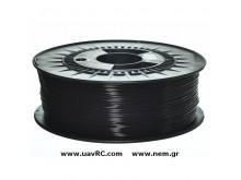 PLA Filament 1,75 mm, Black, Spool -1kg