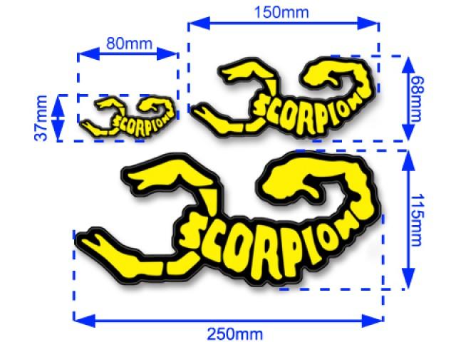 Scorpion Decal Sticker -002