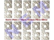 Carbon Fiber Servo Plate, Silver color x10pcs