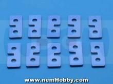 Metal Servo Plate, Blue color x10pcs