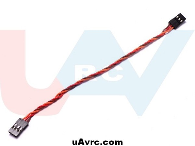 Patch servo cable 30cm - gold plug - silicone wire - twisted