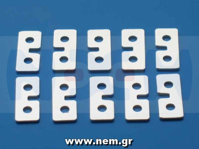 Metal Servo Plate silver color x10pcs