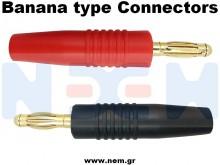 Connector Gold 4.0mm Banana -Set