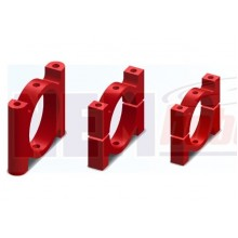 Tube Clamp 20mm Metal -Red