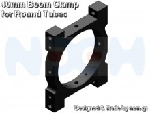 CNC Tube Clamp 40mm CNC AL -Black Matte Anodized