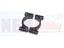 Tube Clamp 25mm Plastic -Black