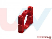 Tube Clamp 16mm Metal -Red