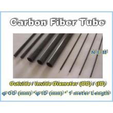 Carbon Fiber Tube 12x10mm Black -1mtr