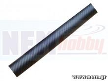 3K Carbon Tube 22x20mm Matt Finish -1mtr