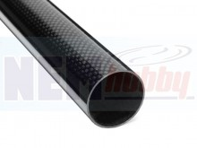 3K Carbon Tube 40x37mm Glossy Finish -1mtr