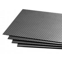 Carbon Fiber 500x400 x5mm 3K Plate Panel Sheet, Plain Weave, Matte Surface
