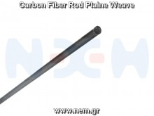 Carbon Fiber Rod 6.0mm x1 meter -Plain Weave