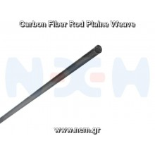 Carbon Fiber Rod 7.0mm x1 meter -Plain Weave