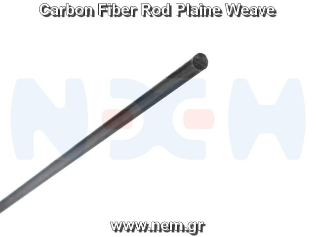 Carbon Fiber Rod 4.0mm x1 meter -Plain Weave