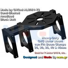 CNC Heavy Duty Motor Mount Plate for U8, U15 II etc. -Black Anodized