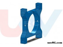 Tube Clamp 25mm Metal -Blue