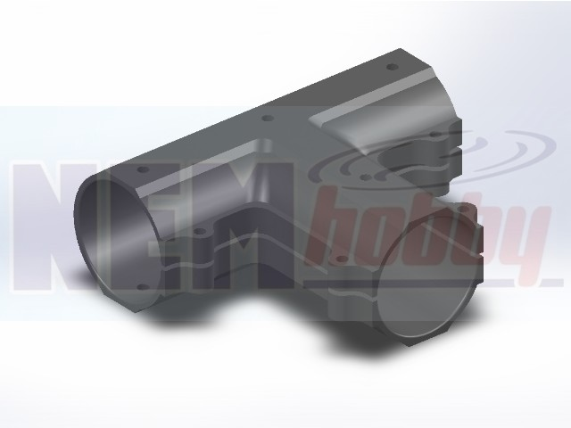 CNC Hub Connector T-Type 90D -25mm Boom
