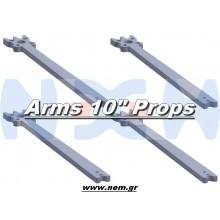 "10"" Prop Carbon Motor Arm 5mm thickness x4pcs -D379mm"