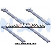 "11"" Prop Carbon Motor Arm 5mm thickness x4pcs -D415mm"