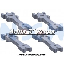 "3"" Prop Carbon Motor Arm 5mm thickness x4pcs -D151mm"
