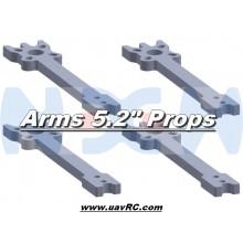 "5.2"" Prop Carbon Motor Arm 5mm thickness x4pcs -D208mm"