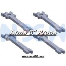 "6"" Prop Carbon Motor Arm 5mm thickness x4pcs -D230mm"