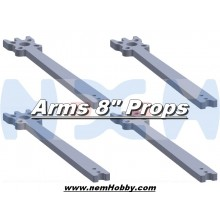 "7"" Prop Carbon Motor Arm 5mm thickness x4pcs -D268mm"
