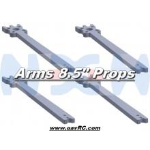 "8.5"" Prop Carbon Motor Arm 5mm thickness x4pcs -D323mm"