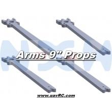 "9"" Prop Carbon Motor Arm 5mm thickness x4pcs -D342mm"