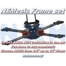 "3.5"" Prop Carbon Motor Arm 5mm thickness x4pcs -D164mm"