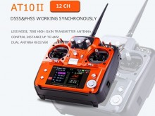 Radiolink AT10 II, 12CH, 2.4G Transmitter W/ R12DS Receiver & RPM-01