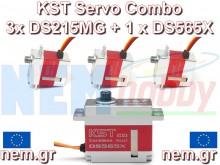 KST DS215MG v3 x 3 + DS 565X x 1 HV Digital Servo combo