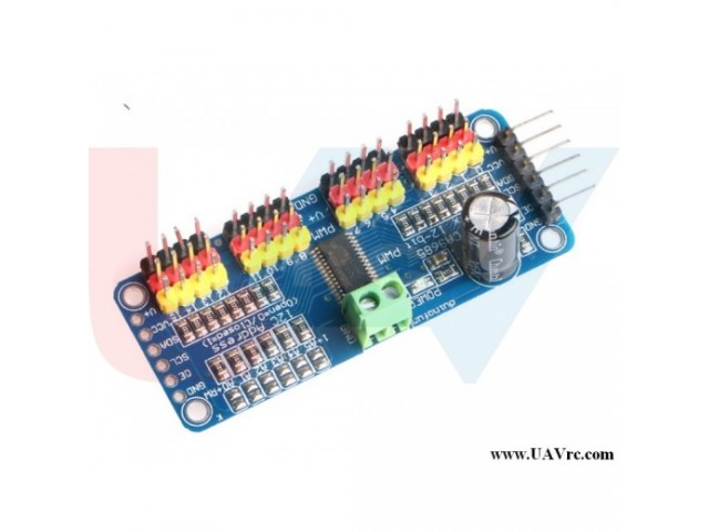 Servo motor Driver PCA9685 16 Channel 12-Bit, I2C Module