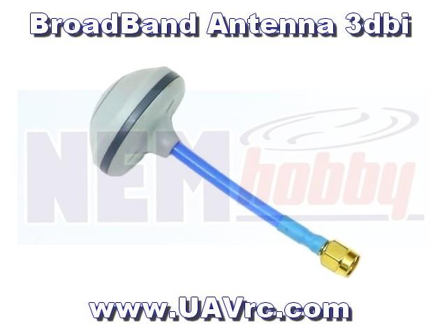 Antenna Broadband 3dbi, 4 leafs -RP-SMA