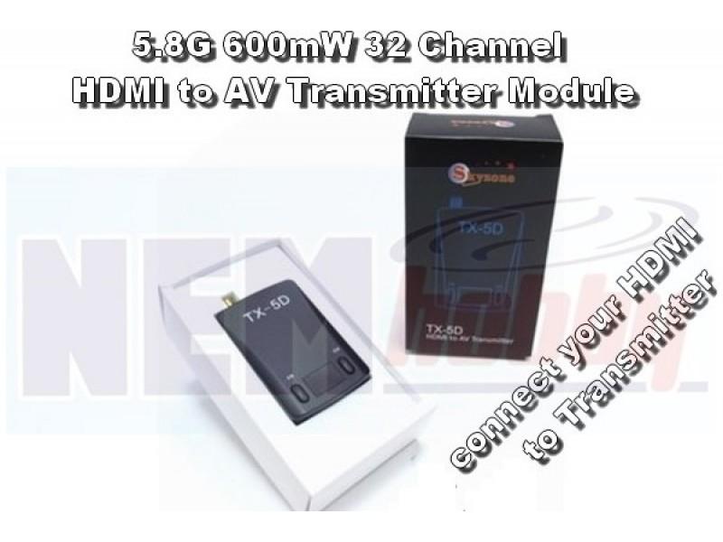 Skyzone TX-5D FPV 5.8G 600MW 32CH Transmitter Module HDMI to AV FPV