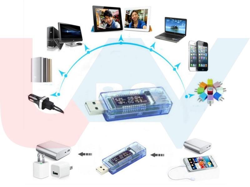 Voltage Current Detector USB Charger Doctor Mobile Tester Meter Power Output BL