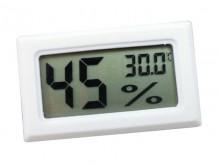Digital Mini Thermometer Hygrometer -White