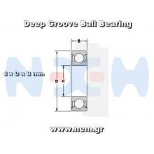 Bearing 5x10x4mm x4pcs
