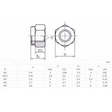 Nut M3mm Secure Lock -Steel