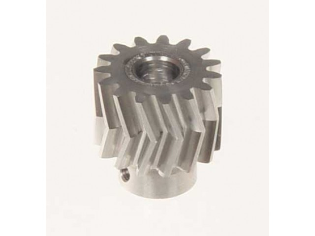 Pinion for herringbone gear 15teeth, M1, dia.6mm -04415