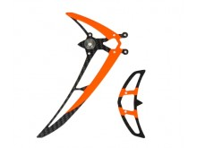 Fin set LOGO 480 black/neon-orange -04983