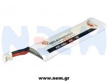 Brainergy 3.7V 450mAh 45C 1S1P Lipo Battery Pack