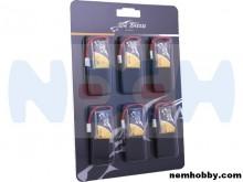 Tattu 350mAh 3.7V 30C 1S1P Lipo Battery Pack with Molex Plug -(6 pcs/pack)