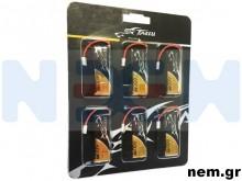 Tattu 600mAh 3.7V 30C 1S1P Lipo Battery Pack with Molex Plug (6 pcs/pack)