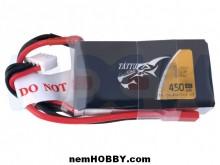 Tattu 450mAh 3S1P 45C 11.1V Lipo Battery Pack With JST