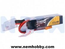 Tattu 450mAh 11.1V 75C 3S1P Lipo Battery Pack -Long Size for H Frame