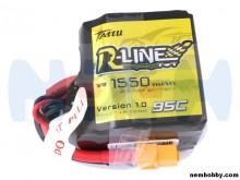 Tattu R-Line 1550mAh 95C 4S1P Square lipo battery pack